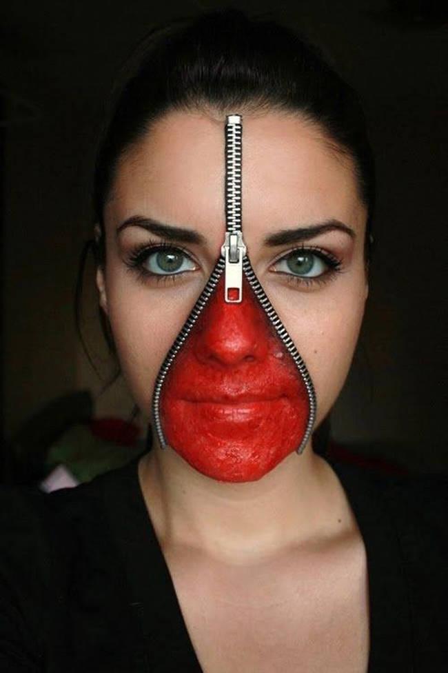Halloween Sminkningar Clown.Har Ar 22 Kreativa Sminkningar Som Nastan Ar For Bra For Att