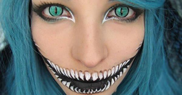 Laskiga Halloween Sminkningar.Har Ar 22 Kreativa Sminkningar Som Nastan Ar For Bra For Att